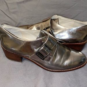 Louise et Cie Metallic Stretch Loafers